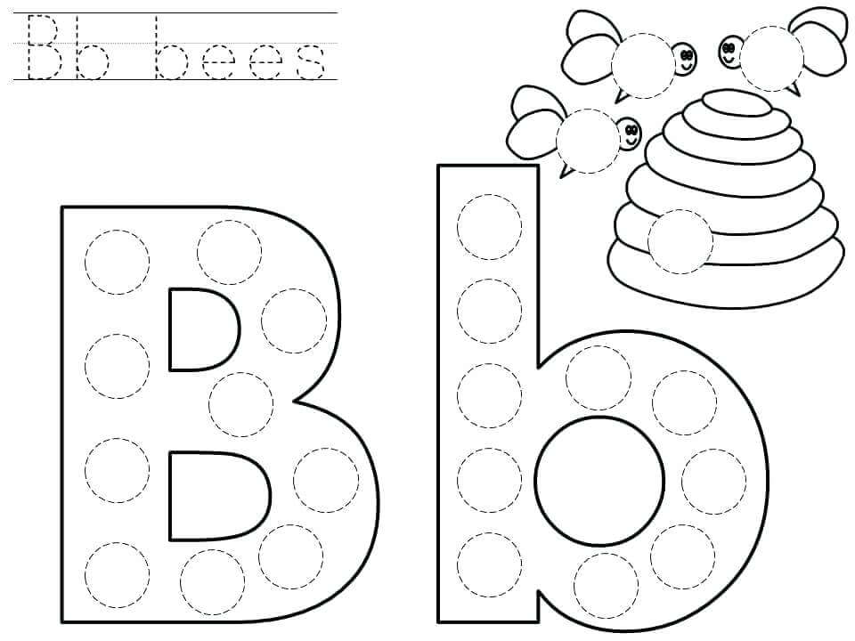 Printable Worksheets alphabet worksheets for kindergarten pdf : Letter B Worksheets Preschool - Checks Worksheet