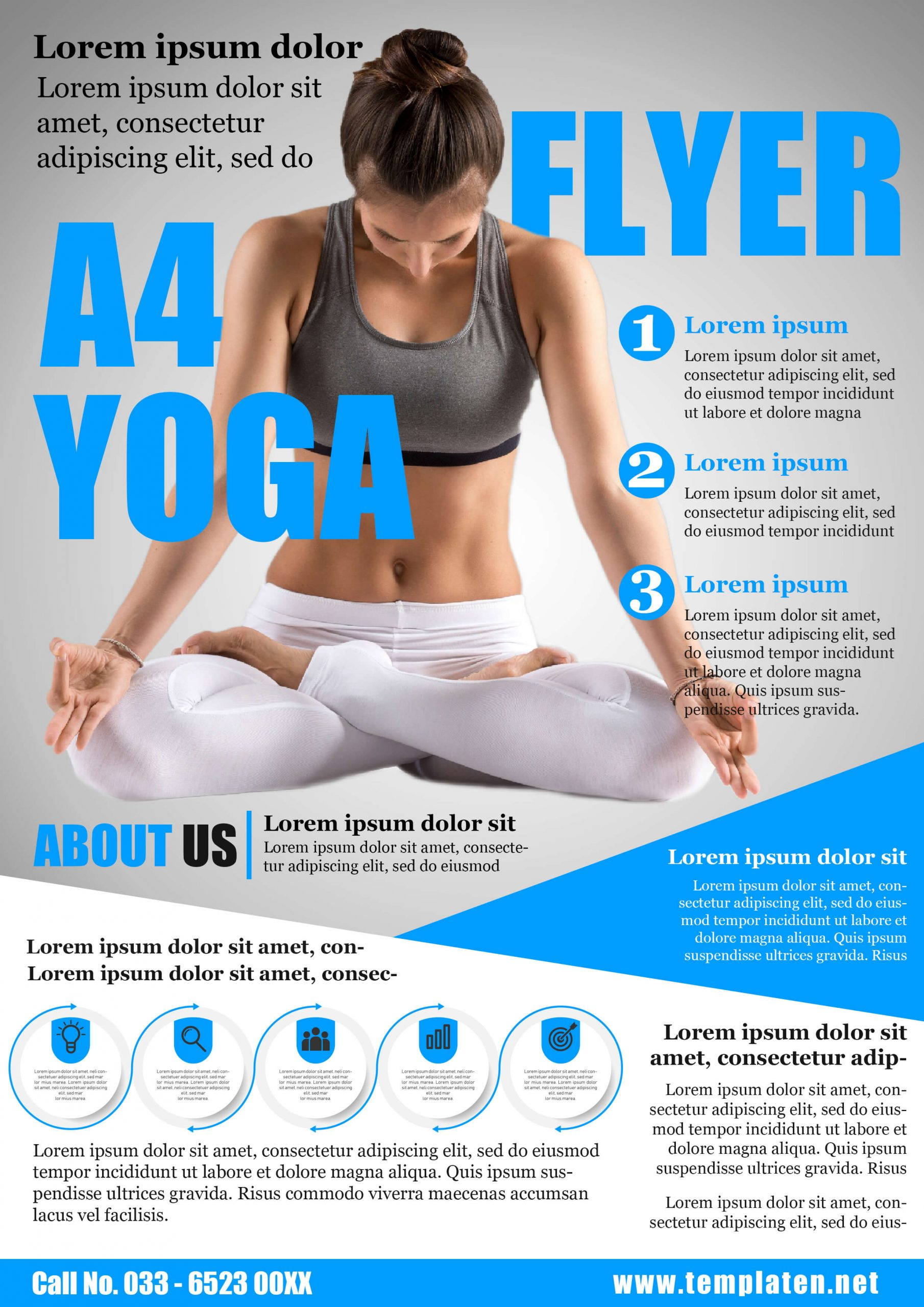 Free YOGA FLYERS Template PSD Editable File for Download