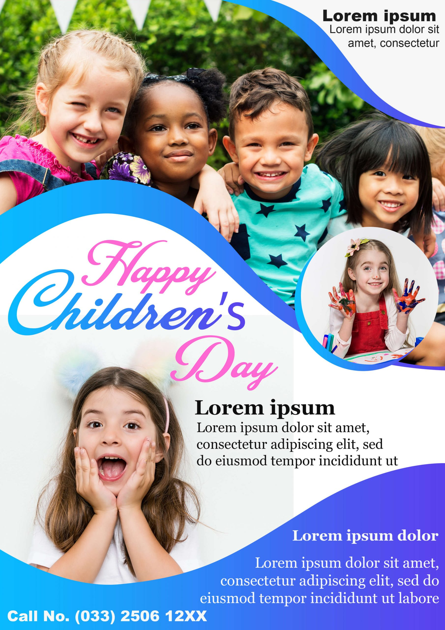 Free Children's Day PSD Template