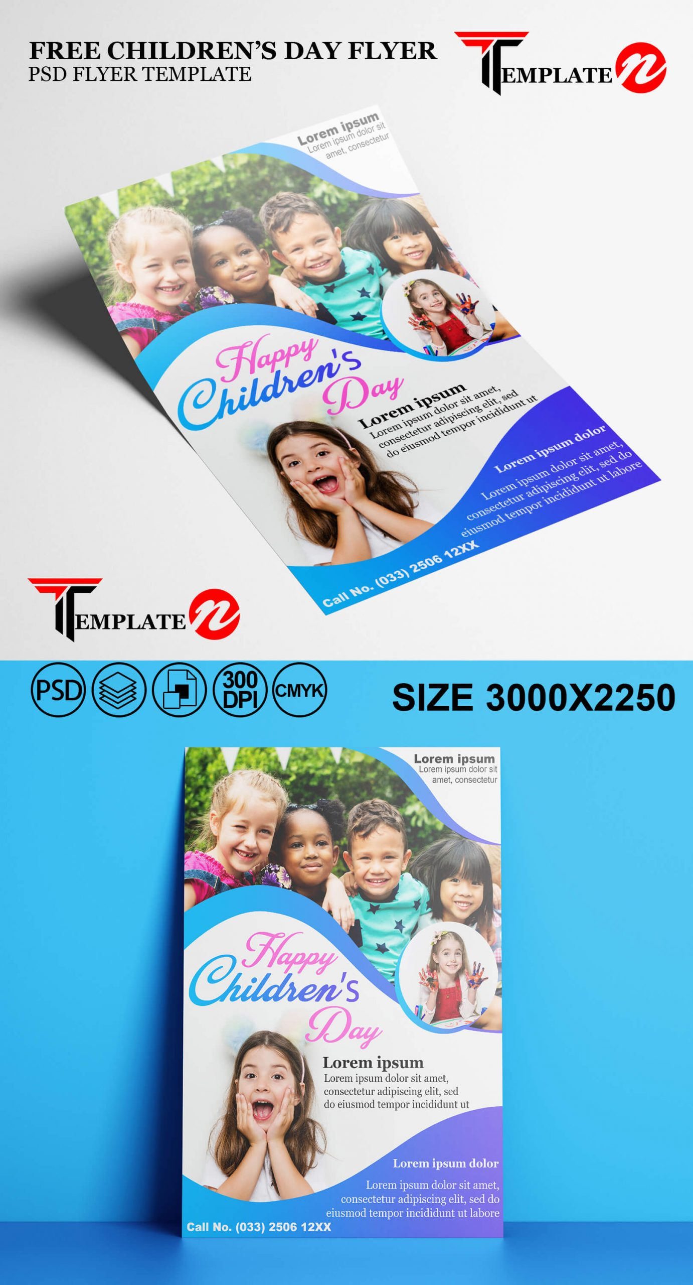 Free Children' Day PSD Template