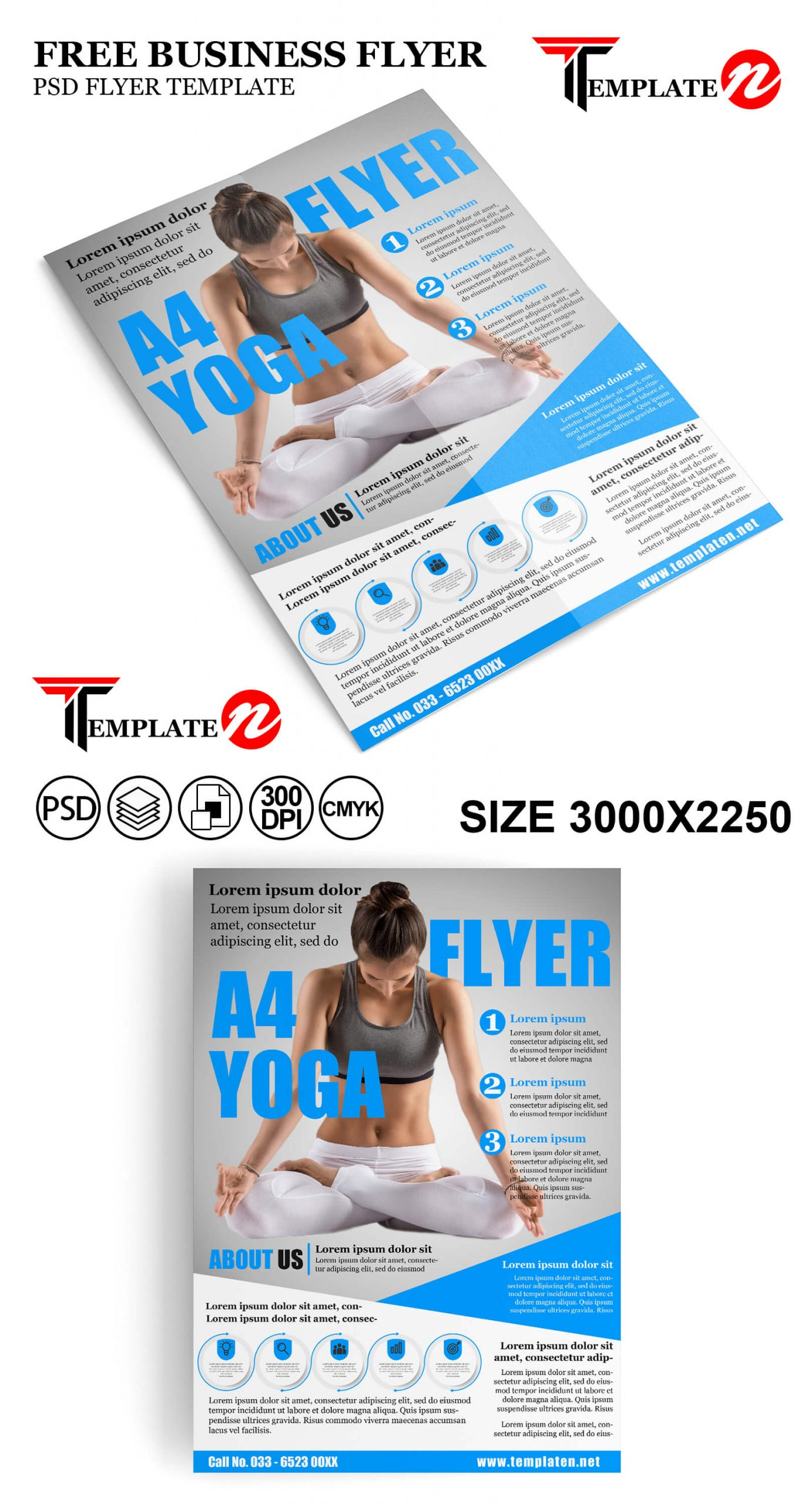 Free Yoga Flyers Template Psd Editable File Templaten