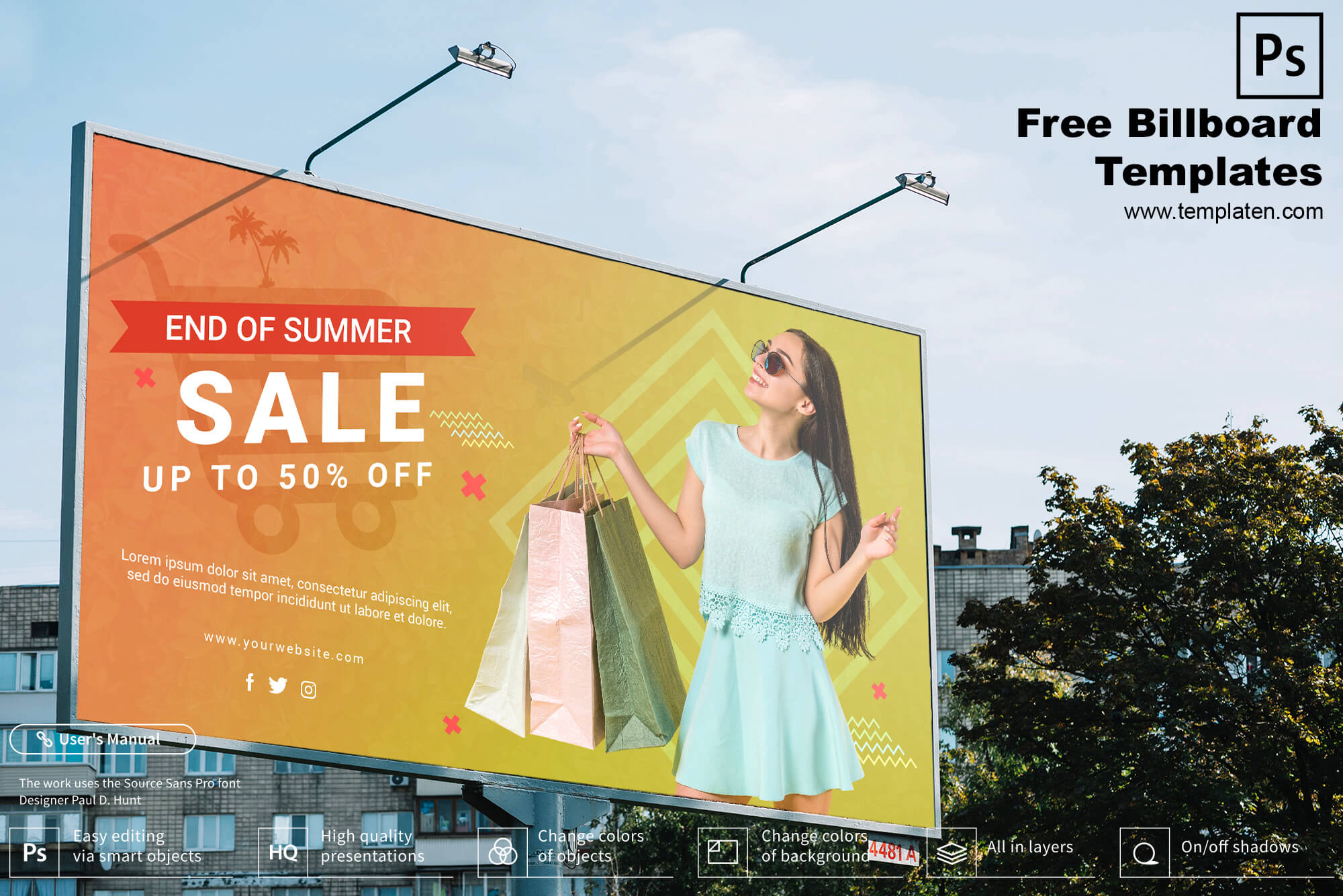 Free Billboard PSD Template