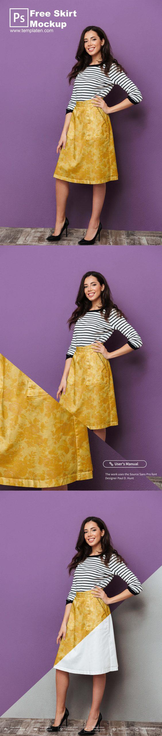 Free Skirt PSD Template