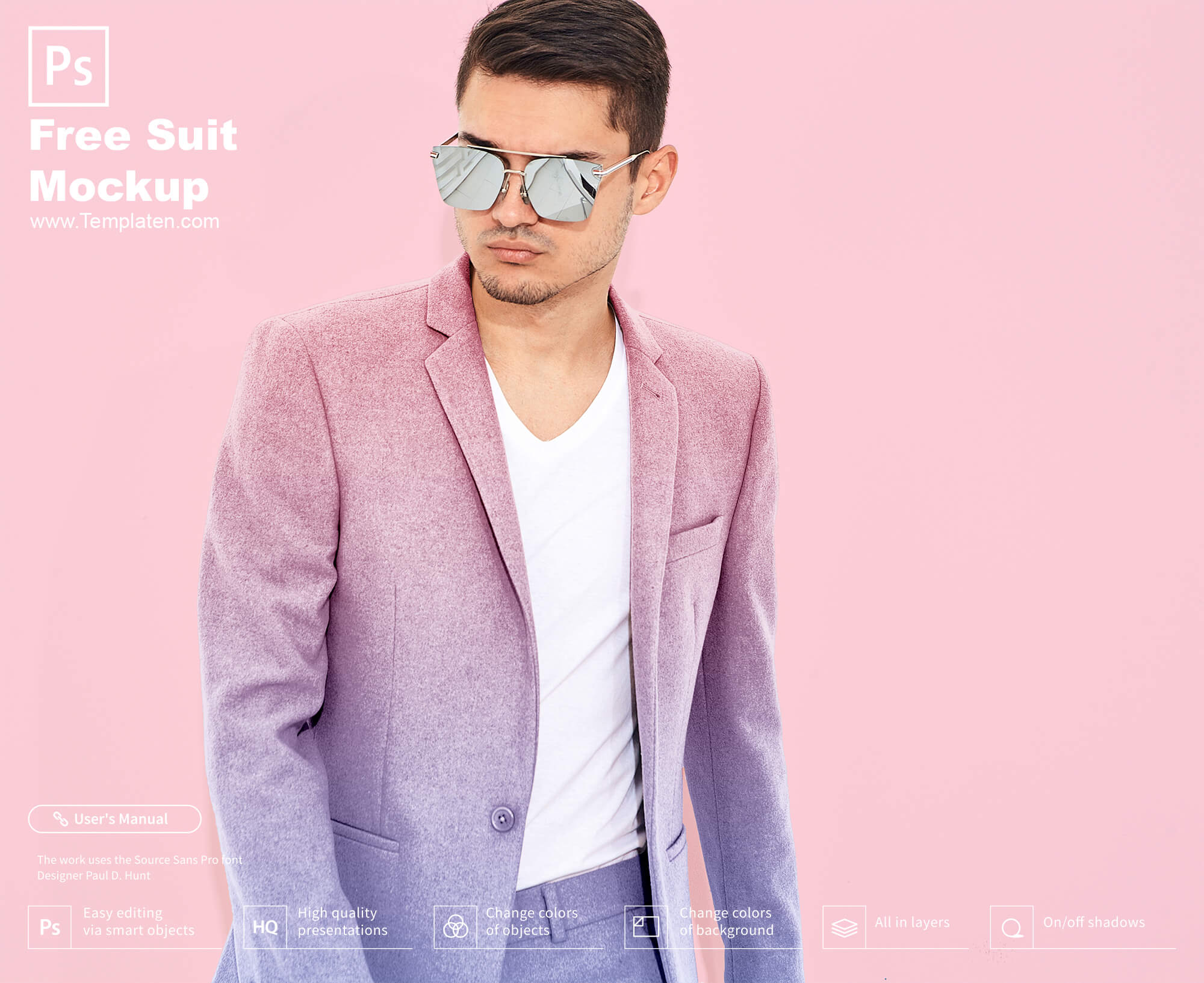 Free Suit PSD Template