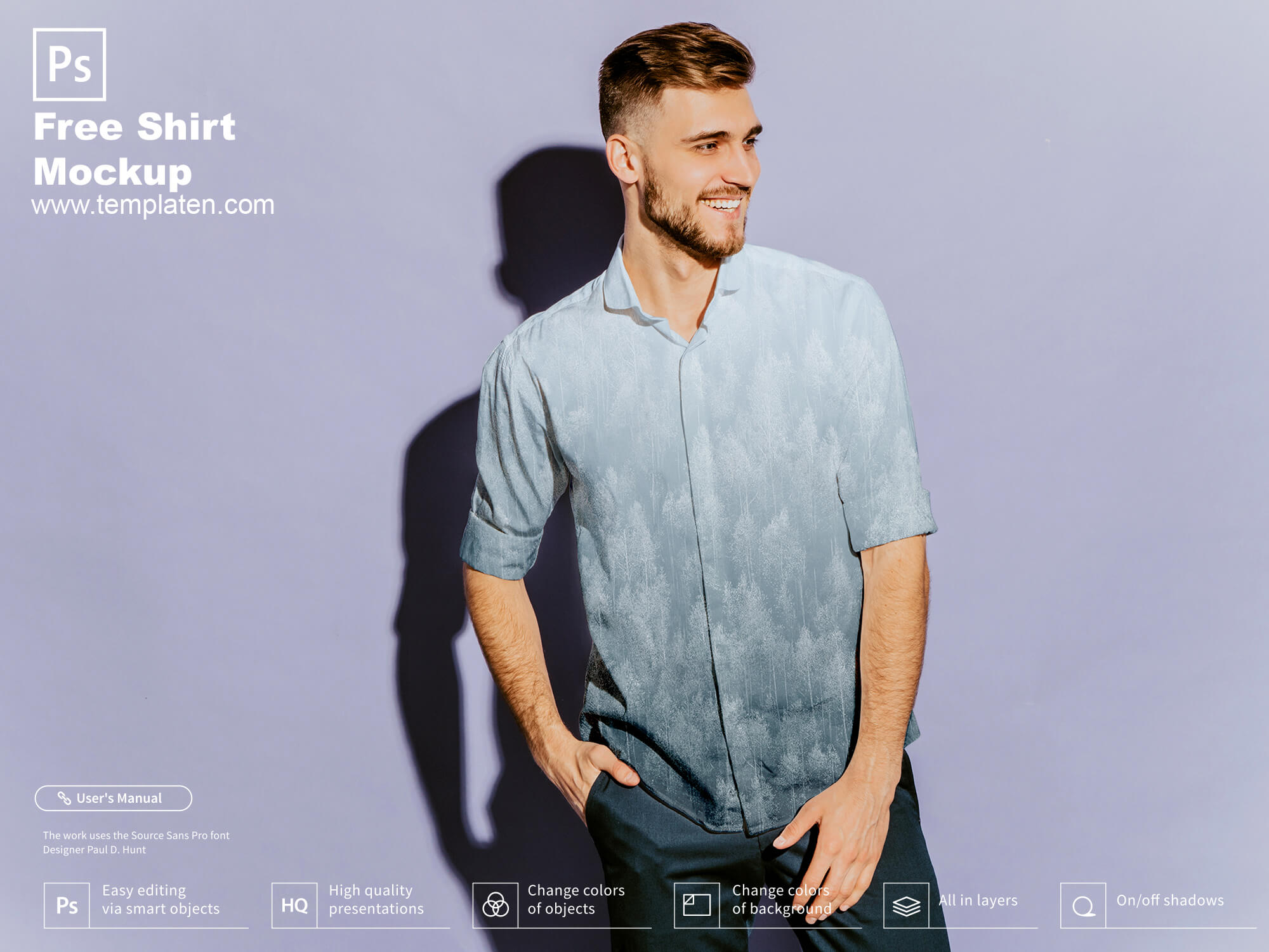 Free Shirt PSD Template