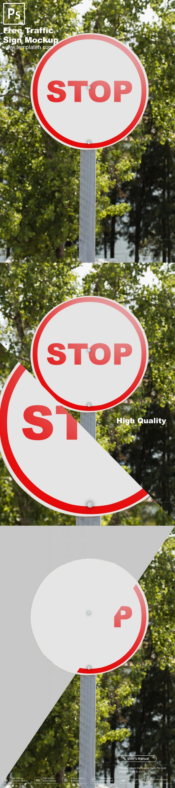Free Traffic Sign PSD Template