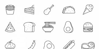 20 Free Food Vector Icons (AI)