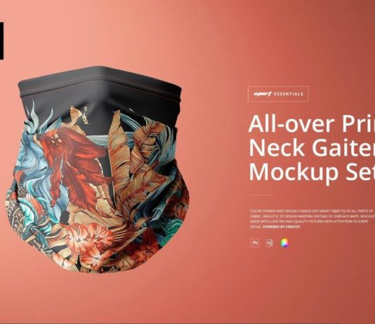 All-over Print Neck Gaiter Mockup
