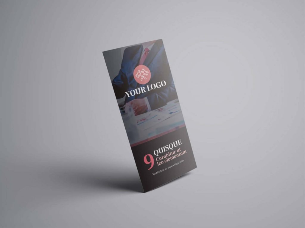 Attorney & Law Trifold Brochure Design Template (AI)