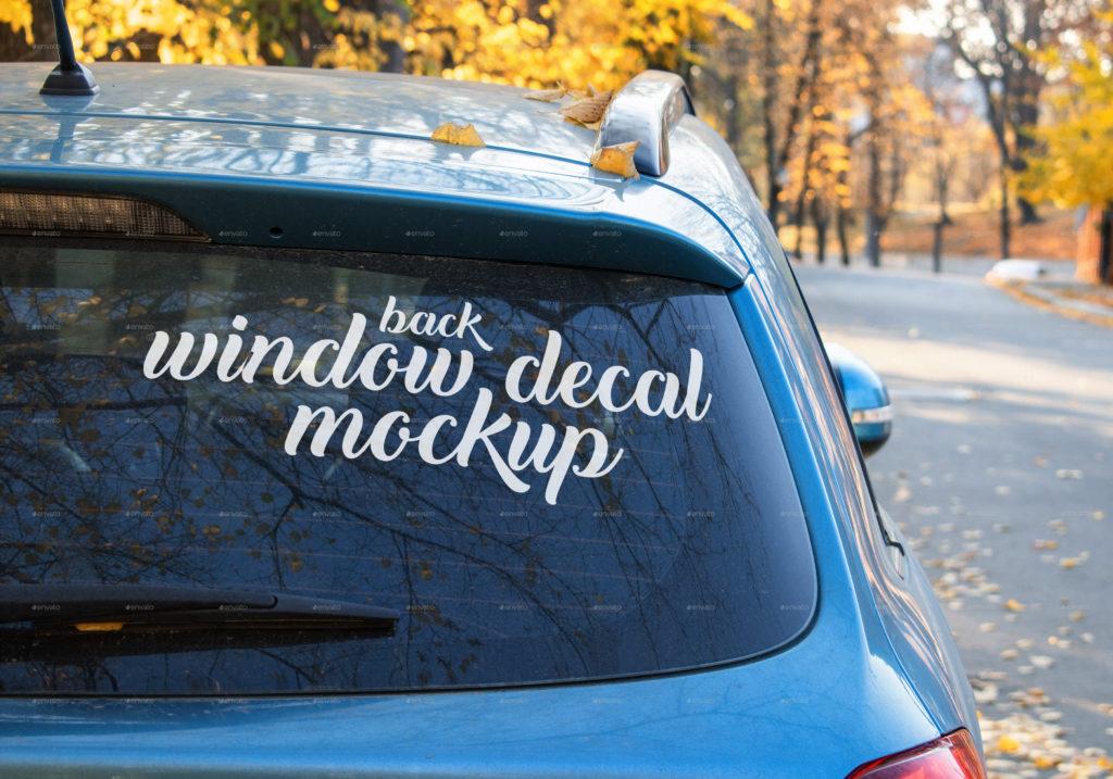 Car Window Decal Mockup Set