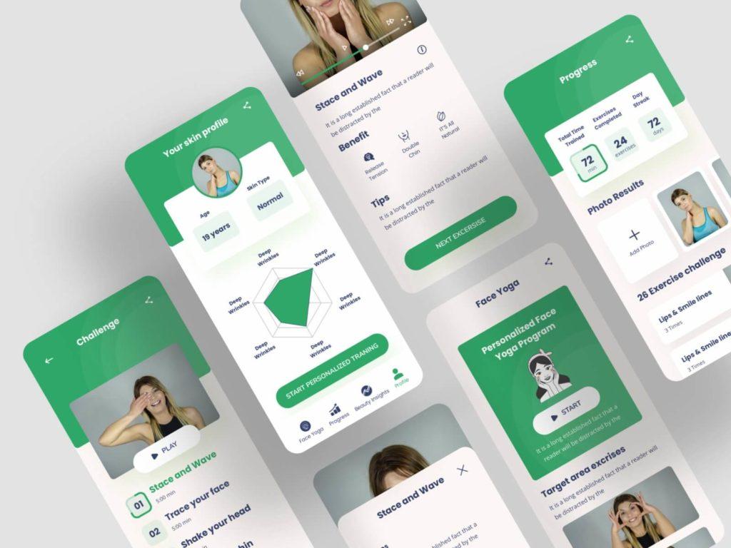 Face Yoga IOS Mobile App Template: