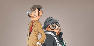 Free Detectives Cartoon Illustration (AI)