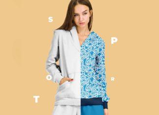 Free Female Sport Suit Mockup (PSD)