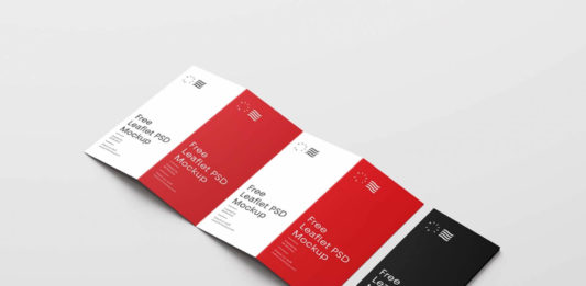 Free Four Fold Brochure Mockup (PSD)