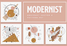 Free Modernist Abstract Vector Patterns (PSD)