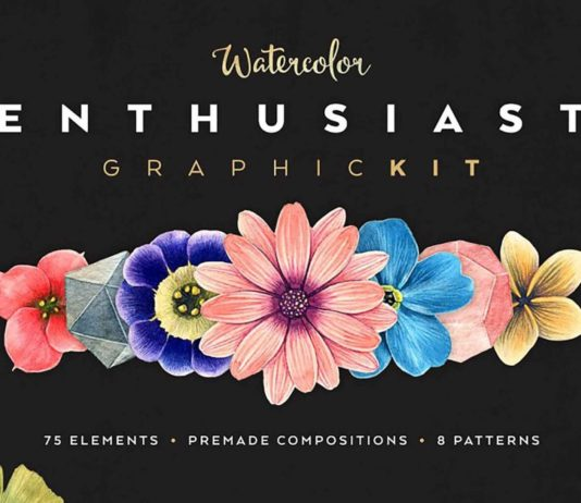 Free Watercolor Enthusiast Graphic (AI, PNG)