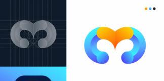 M + Love Logo Design Concept - M logo design