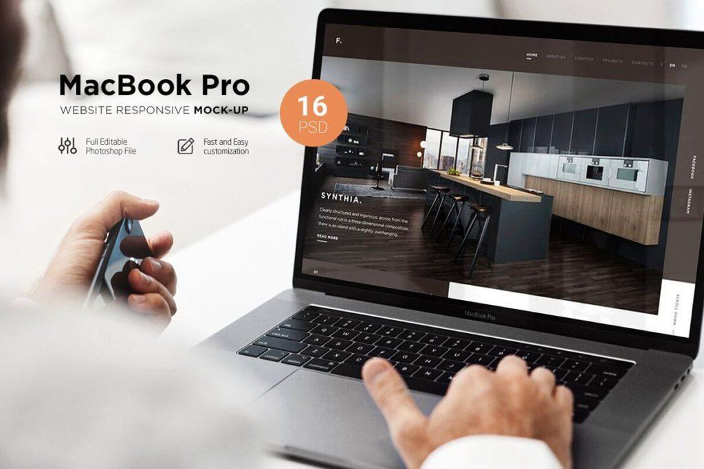 MacBook Pro Responsive Mock-Up