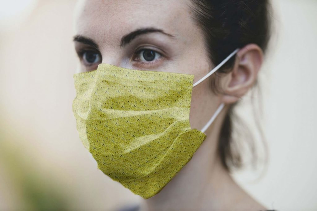 Medical Face Mask PSD Mockup