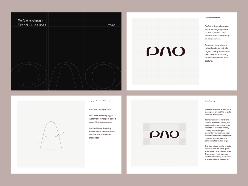 PAO Architects Logotype Brand Guidelines