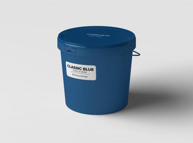 Paint bucket mockup Premium Psd