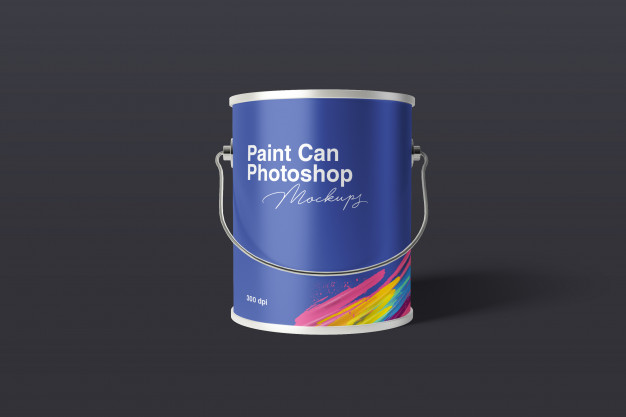 Paint can mockup Premium Psd