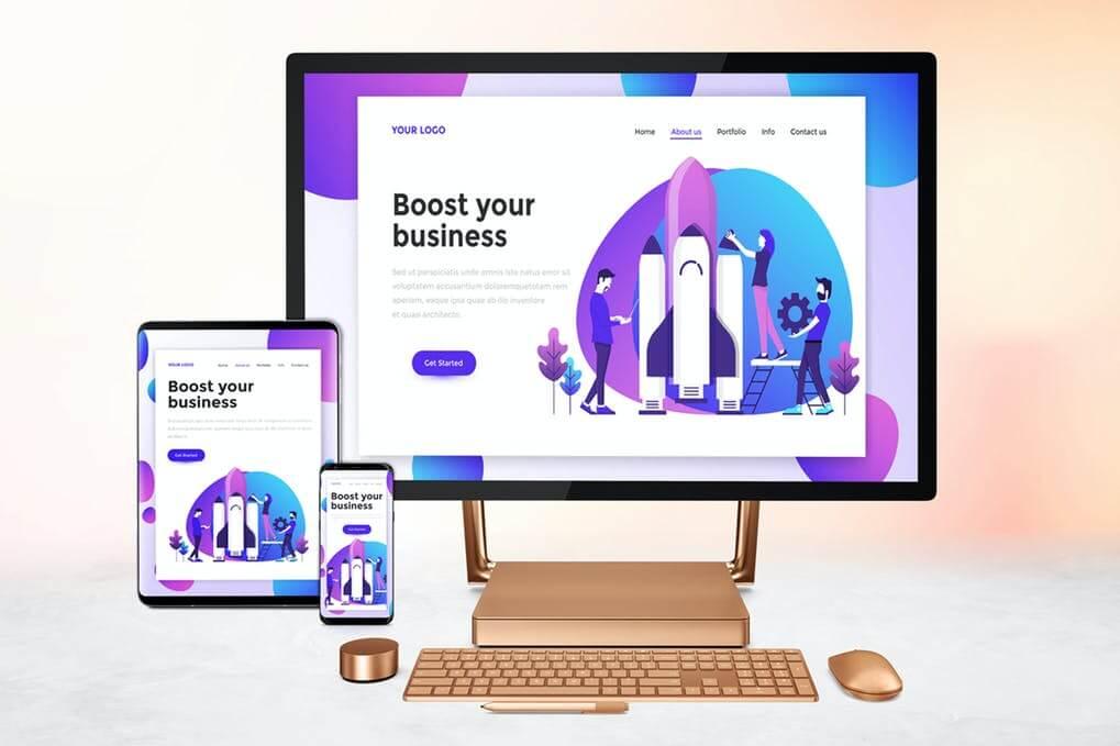Responsive Screens Mockup