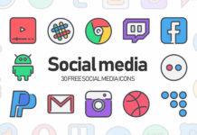 30 Free Social Media Icons (AI)