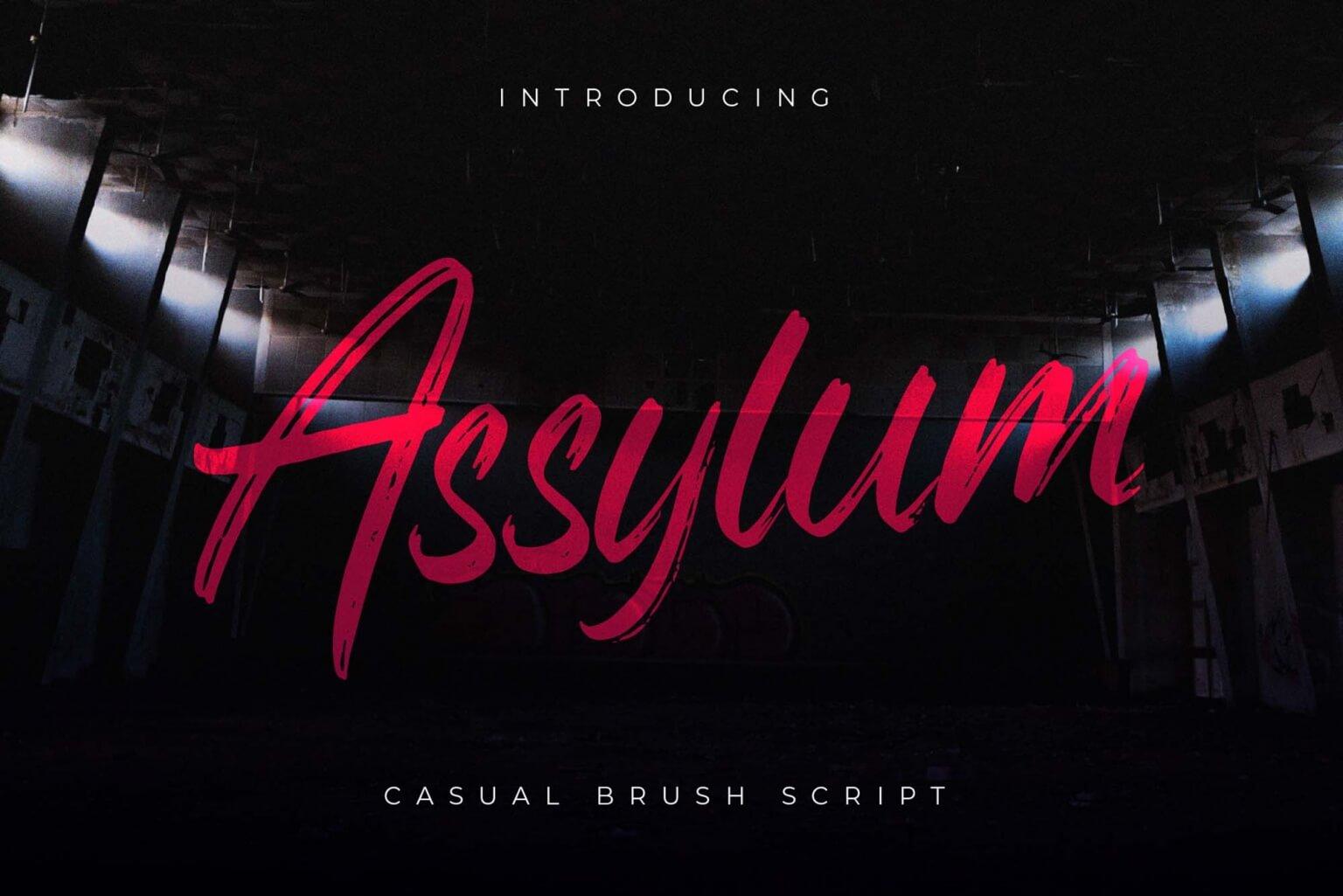 Free Assylum Script Font