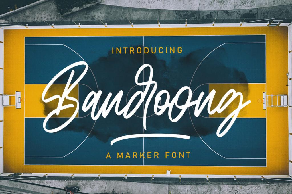 Bandoong Modern Script Font