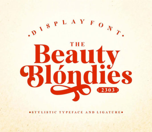 Beauty Blondies Typeface