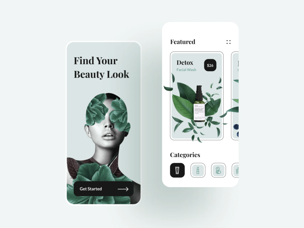 Beauty Shop Mobile E-commerce App