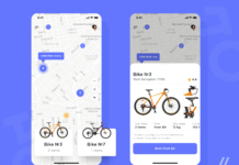 Bicycle Rental App Design