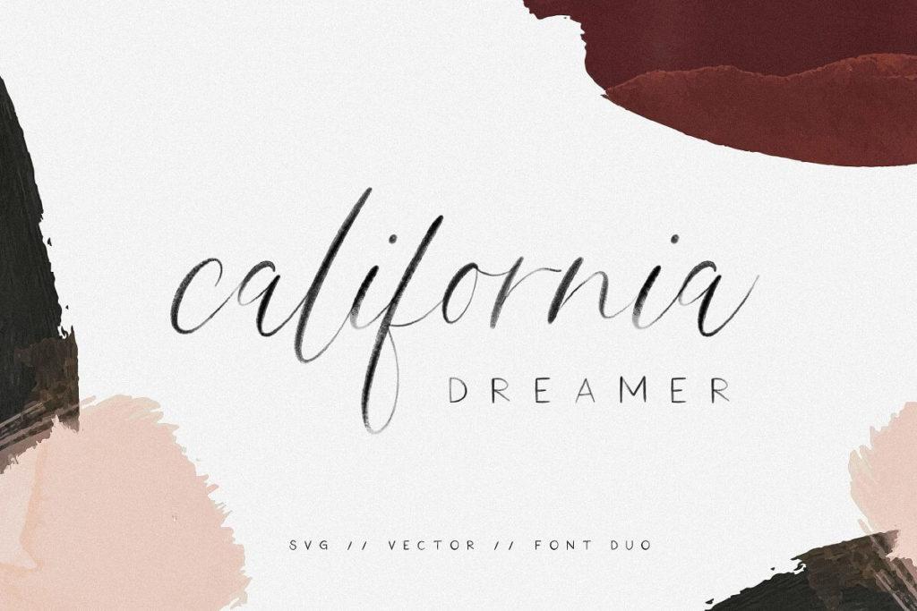 California Dreamer | Font Duo + SVG
