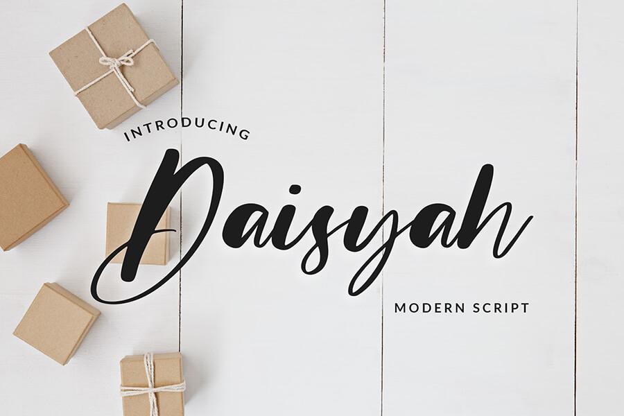 Daisyah Modern Script Font