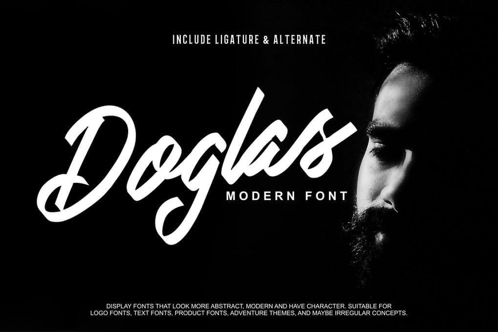Doglas | Modern Script Font