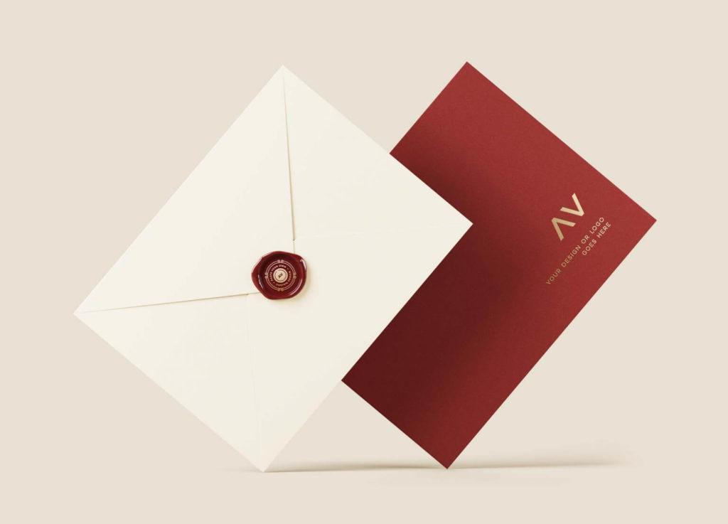 Creative Envelope With Logo Mockup