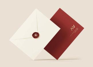 Envelope Logo Mockup (PSD)