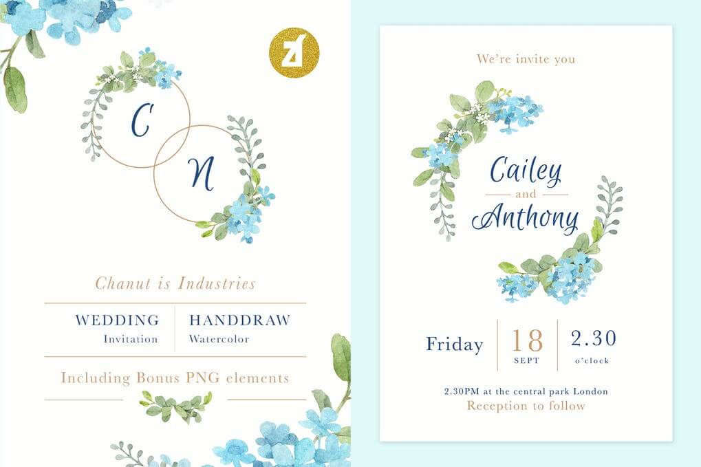 21 Complete Floral Watercolor Painting PSD Template