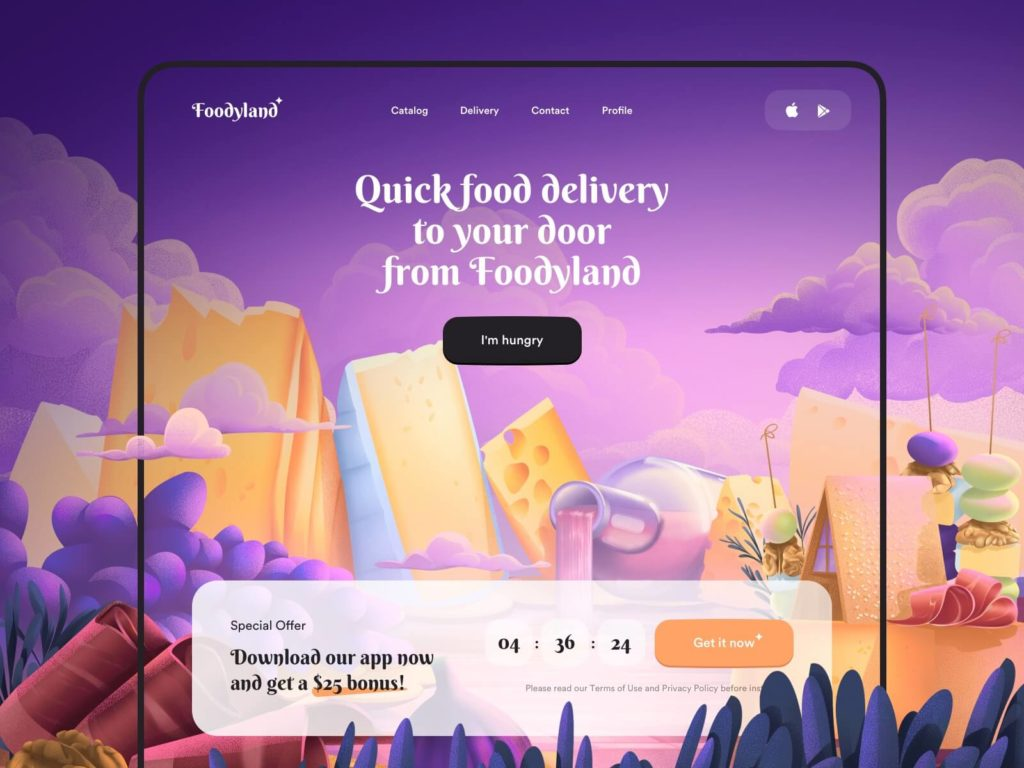 Food Delivery Service App Design
