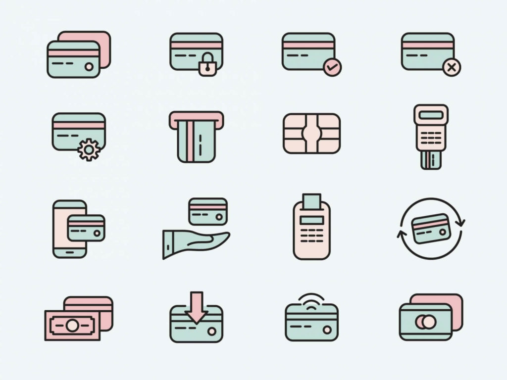 Free Credit Card Vector Icons in AI