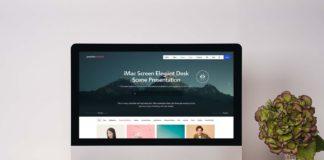 Free Desk iMac Mockup Scene (PSD)