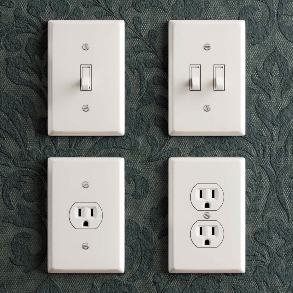 Free Electrical White Light Switches 3D Models
