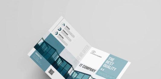 Free IT Company Brochure Template (PSD)