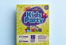 Free Kids Party Flyer Template (PSD)