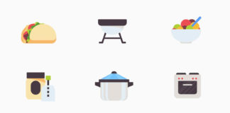 Free Kitchen-Food Vector Icons (AI)
