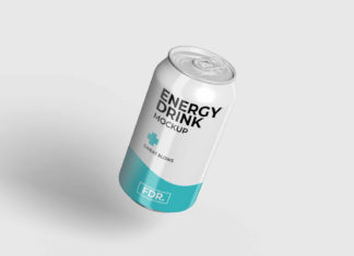Free Large Soda Can Mockup (PSD)