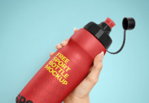 Free Sport Bottle Mockup