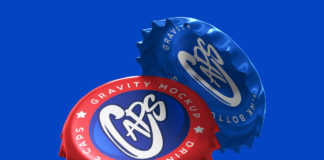Gravity Psd Bottle Cap Mockup 2