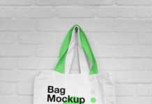 Hanging Canvas Bag Mockup
